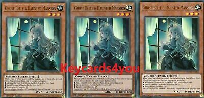 £12.50 • Buy Yugioh 3 X Ghost Belle & Haunted Mansion - Dude-en004 Ultra 1st Edition