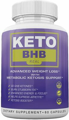 $19.95 • Buy Keto Bhb Real Advanced Weight Loss 1 Month 60 Capsules **fast Shipping**