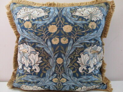 Liberty William Morris African Marigold Linen Cushion Cover & Velvet Fabric Trim • 37.50£