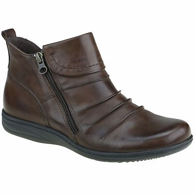 AU128 • Buy Planet Shoes Womens Comfort Ripple Ankle Boot In Bark Brown Leather