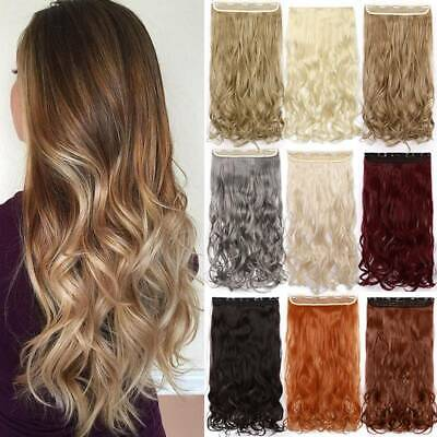Thick Full Head As Human Clip In Hair Extensions Real Long Curly Straight Woman • 8.01£