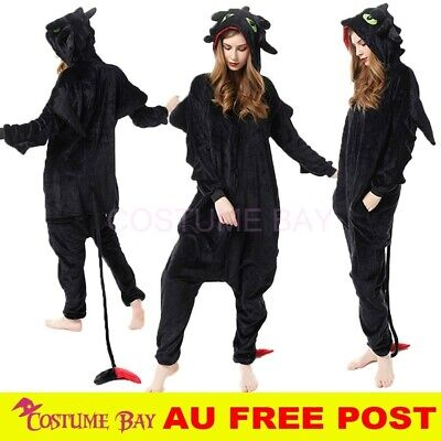 AU29.95 • Buy Toothless Dragon Jumpsuit Onesie Adult Kigurumi Cosplay Unisex Pajamas Costume
