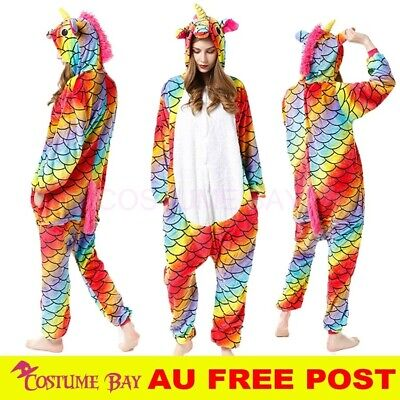 AU32.95 • Buy AU Scale Rainbow Unicorn Jumpsuit Onesie Adult Kigurumi Unisex Pajamas Costume