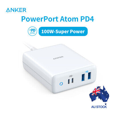 AU134.96 • Buy Anker USB-C Charger 100W PowerPort Atom PD USB C Charging Station For Laptop