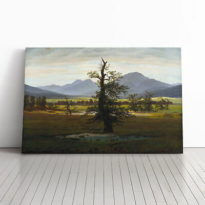Friedrich Caspar David The Lonely Tree Framed Canvas Print Wall Art Picture • 19.95£