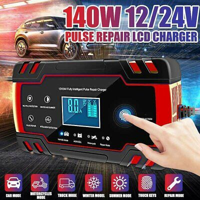 AU49.99 • Buy 12V 24V Car Battery Charger Repair LCD Display Truck Boat Motercycle Battery 8A