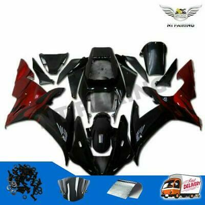 $579.99 • Buy Injection Fit For Yamaha R1 YZF 2002-2003 Black ABS Fairing Plastic Kit C001