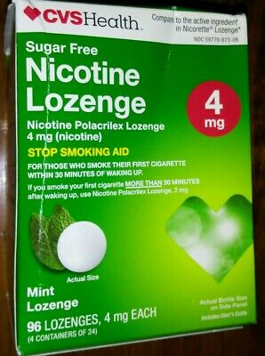 $ CDN33.47 • Buy Compare To Nicorette 4 MG MINT FLAVORED NICOTINE LOZENGES 96 Pieces; Exp. 8/2021