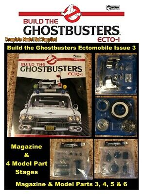Eaglemoss Build The Ghostbusters Ecto 1 - ISSUE 3 MAGAZINE & 4 X MODELS PARTS • 59.99£