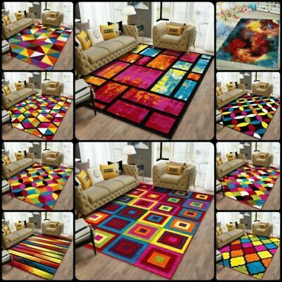 Modern Luxury Hand Carved Multi Colour Carpets Small Large Floor Rugs Runner Mat • 14.09£