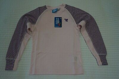 Muddy Puddles Thermals Striped Base Layer Top - Pink Hollyhock 2 3 4 5 6 7 8 Yrs • 9.99£
