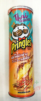 Pringles Hot And Spicy Grilled Squid THAI Flavored Potato Chips Snack 107g • 9.01£