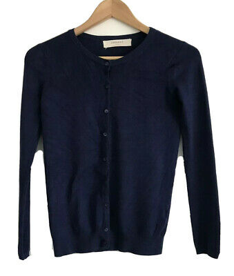AU19.98 • Buy Zara Knit Navy Blue Long Sleeve Button Up Cardigan Womens Size Small