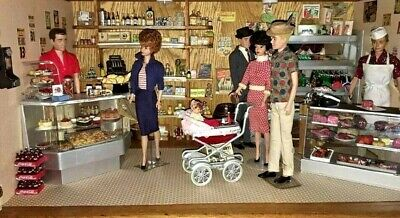$ CDN272.14 • Buy Vintage Barbie Ken Doll Lot Diorama Grocery Deli Store Miniatures **so Cool**