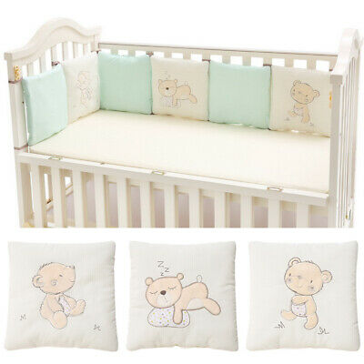 £15.99 • Buy 6Pcs/Lot Baby Protector Crib Bumper Pads Bed Cot Safety Cotton Blend Set Rail UK