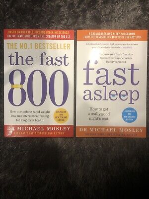 $19.43 • Buy The Fast 800 & Fast Asleep By Dr Michael Mosley Paperback Books BRAND NEW!!