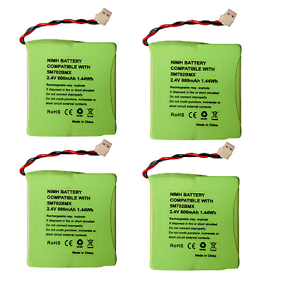 £10.35 • Buy 4 X  2.4v 600mAh Rechargeable Battery For BT Verve 450 410 Cordless Phone