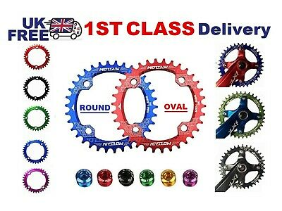 Bike Chainring, 5 BOLTS Round, Oval Narrow Wide Chain Ring 104BCD 32-38T MTB  • 11.99£