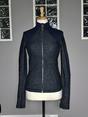 $ CDN78 • Buy Lululemon Forme Jacket 4 Slub Denim Inkwell Shape Define Euc