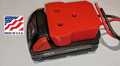 $16.79 • Buy Milwaukee M18 Battery Adapter Holder Dock With Wires For Power Wheels Upgrade