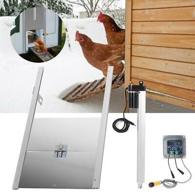 Automatic Chicken Door Timing Opener Close House Hen Coop Poultry Remote Control • 83.99£