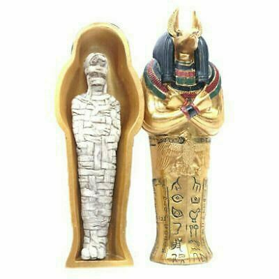 £10.95 • Buy Gold Egyptian Anubis Sarcophagus Trinket Box With Mummy Ethnographic Ornament