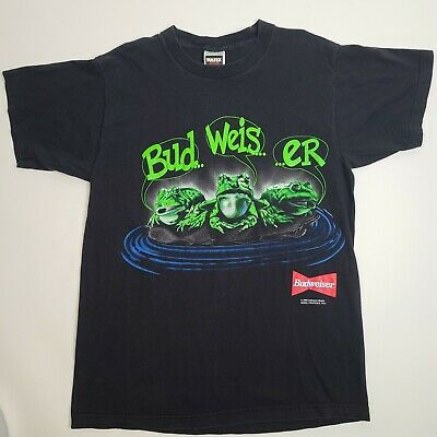 $ CDN71.98 • Buy VTG 90s Budweiser Frogs Your Pad Or Mine 1995 Beer Promo T Shirt Size Large