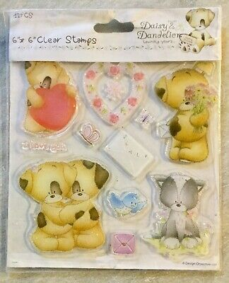 Daisy And Dandelion Lovingly Yours SWALK Set 12 Clear Acrylic Stamps Teddy Bear • 4.99£