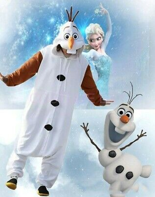 AU29.95 • Buy AU Olaf Onesie Kigurumi Pajamas Unisex Sleepwear Birthday Party Cosplay Costume