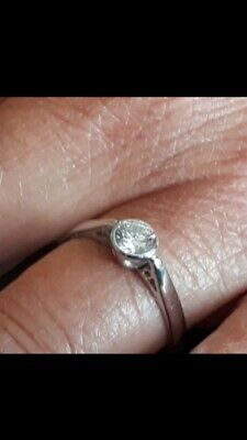 18ct White Gold Diamond Solitaire Ring. 55 Carat Size R 3.2 Grams • 695£
