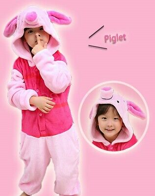 AU26.95 • Buy Piglet Onesie Kigurumi Pajamas Unisex Sleepwear Birthday Party Cosplay Costume