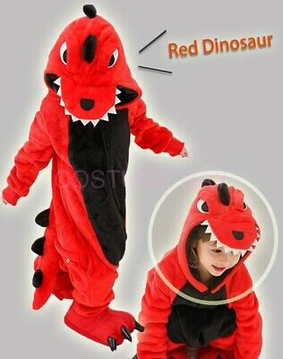 AU26.95 • Buy AU Red Dinosaur Onesie Kigurumi Pajamas Unisex Sleepwear Party Cosplay Costume