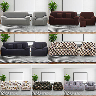 AU19.99 • Buy Sofa Covers 1 2 3 Seater Lounge Couch Recliner Chair Stretch Slipcover Protector