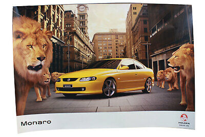 AU165 • Buy Large Holden V2 Monaro Poster Drive On Coupe Lion Genuine Rare