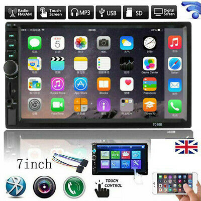 7   Double 2DIN HD Car FM Stereo Radio USB MP5 MP3 Player Touch Screen Bluetooth • 26.49£