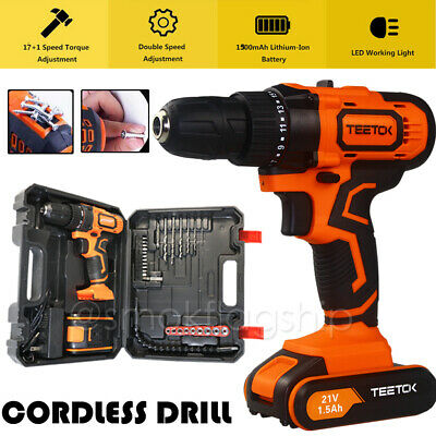 View Details Heavy Duty Cordless Combi Drill Driver Electric Screwdriver With Li-ion Battery • 54.94£