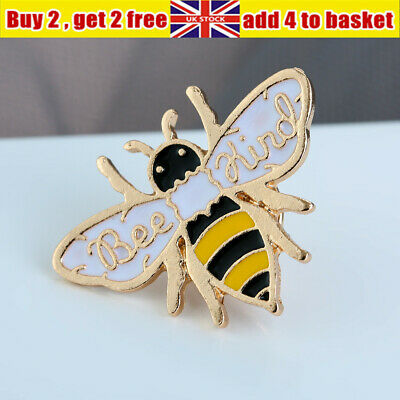 UK Bee Kind Enamel Pin Honey Bee Animal Badge Brooch Pins Party Jewelry Gifts • 2.18£