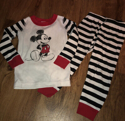 $14.99 • Buy Hanna Andersson DISNEY MICKEY MOUSE Pajamas Organic Cotton Size 90