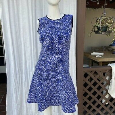 $26 • Buy Shoshanna Blue Dress Size 2 Fit And Flare SEXY Excellent Condition Sleeveless