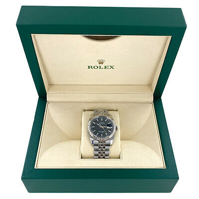 $ CDN8825.05 • Buy Rolex Datejust 36mm Black Dial Watch Box & Papers 2015 116234 Stainless Steel
