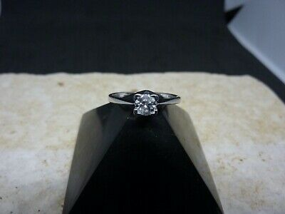 18ct White Gold Diamond Solitaire Ring • 149£