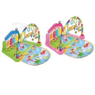 £22.99 • Buy Baby Play Mat Activity Gym With Foot Piano, Music, Light, Hanging Toys, 0 M+