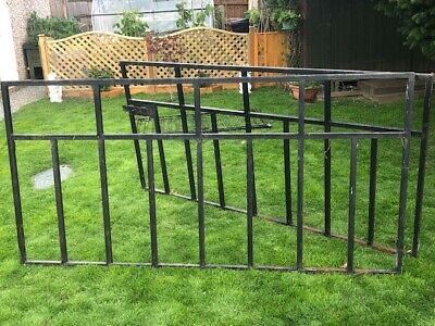 Boxed Section Heavy Duty Steel Black Gates X 2, With 2 X Metal Gateposts • 74.99£