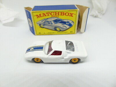 Matchbox 41c Ford GT40 In Type E 'NEW MODEL Box • 50£