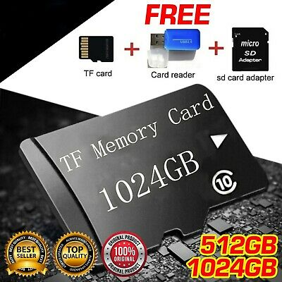 $15.99 • Buy 2020 NEW 1TB Micro Memory Card Storage 512GB 1024GB For 1TB Micro Slot Black