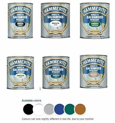 Hammerite - Galvanised  Metal Paint - All Colours - All Sizes • 24.99£