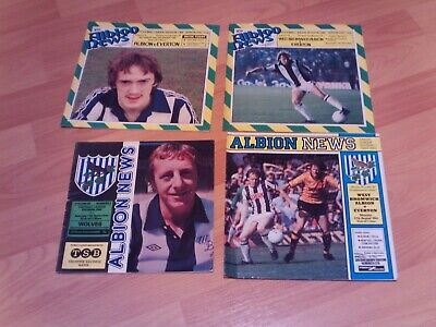 4 West Brom Albion Home Programmes With Free Postage • 3.25£