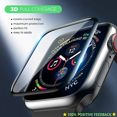 $ CDN7.57 • Buy Tempered 3D Glass Screen Protector For Apple Watch IWatch 5 4 3 2 38/40/42/44 Mm