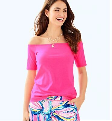 $34.99 • Buy Lilly Pulitzer Keria Top Pink Cosmo Size: M NWT