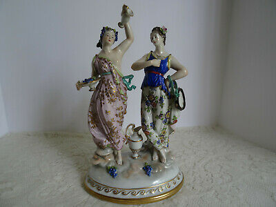 $ CDN169.82 • Buy Antique / Vintage Dresden Figurine Porcelain Ladies - Germany